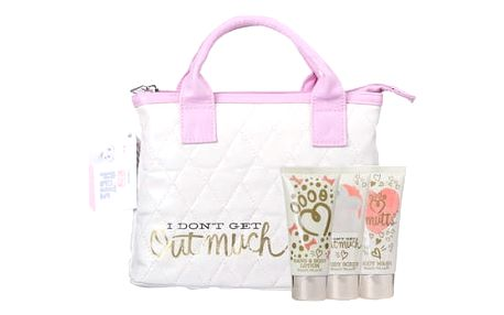Universal The Secret Life Of Pets sprchový gel dárková sada U - sprchový gel 50 ml + tělový peeling 50 ml + tělové mléko 50 ml + kabelka