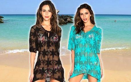 Letní plážové šaty s květinovým vzorem. Ideální nejen na pláž, ale všude tam, kde se chcete cítit dobře a zároveň sexy.