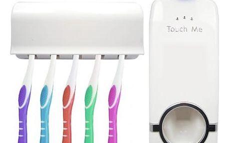 Držák na kartáčky s dávkovačem zubní pasty