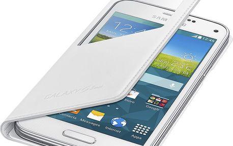 Samsung flipové pouzdro s oknem EF-CG800B pro Galaxy S5 mini, bílá - EF-CG800BWEGWW