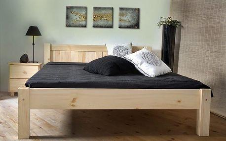 Dřevěná postel Wiktoria 160x200 + rošt ZDARMA borovice