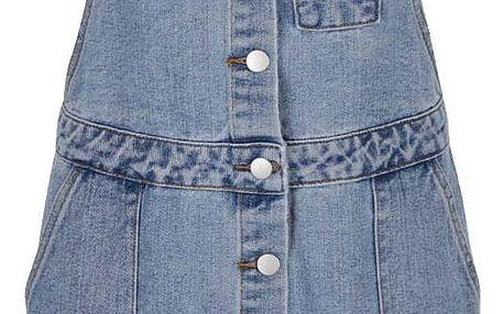 Modré džínové šaty s laclem VILA Eight