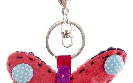 Fashion Icon Klíčenka Motýl ruční práce HANDMADE