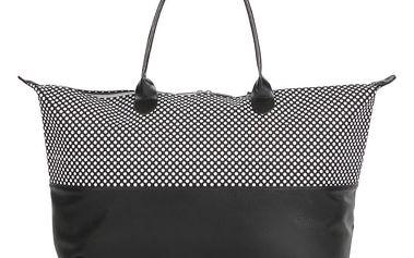 Černo-bílá taška Mi-Pac 50/50 Microdot Tumbled