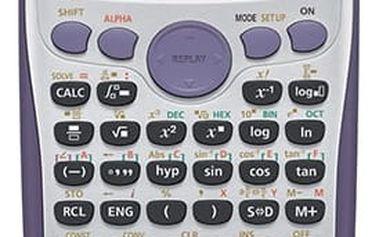 CASIO kalkulačka FX 570ES PLUS, stříbrná, školní, dvouřádková