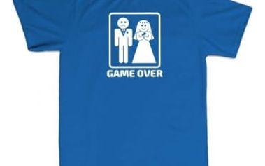 Tričko - GAME OVER - modré - XL
