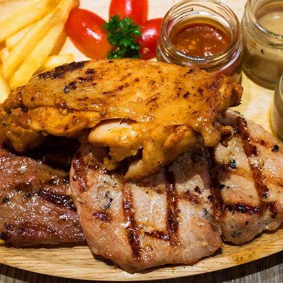 Tři druhy šťavnatých steaků rovnou z grilu pro dva