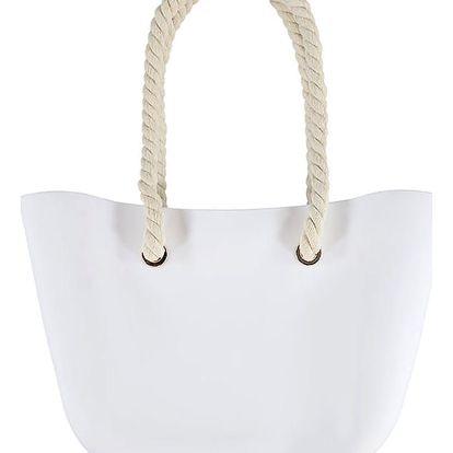 Bílá gumová kabelka Jelly