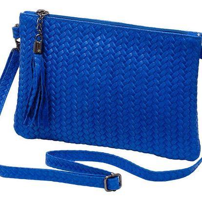 Modrá kabelka z pravé kůže Andrea Cardone Michele