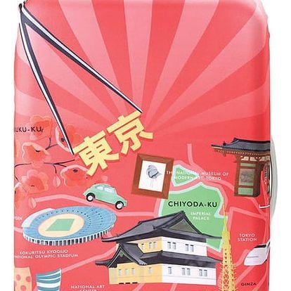 Korálový potah na kufr Loqi Urban Tokyo