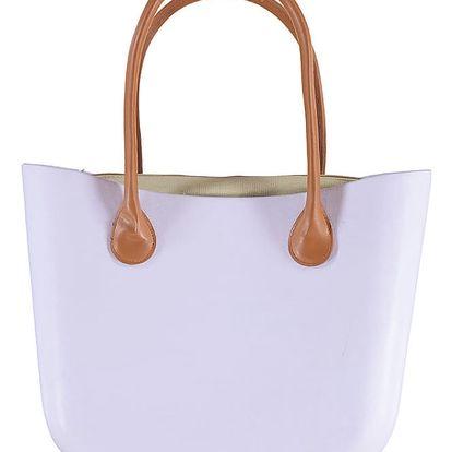 Světle fialová gumová kabelka Rebeca