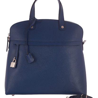 Modrá kabelka z pravé kůže Andrea Cardone Cobalto - doprava zdarma!