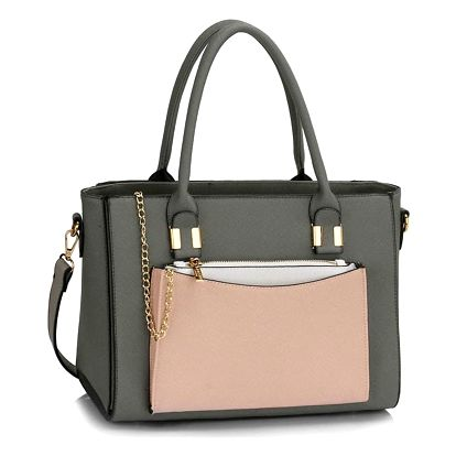 Šedo-béžová kabelka Linda