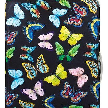 Černý potah na kufr Wild Butterflies