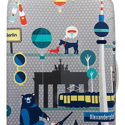Šedý potah na kufr Loqi Urban Berlin