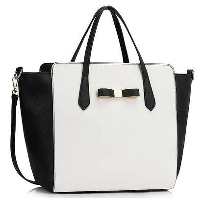Černo-bílá kabelka Jenny
