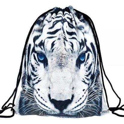 Vak na záda s motivem bílého tygra