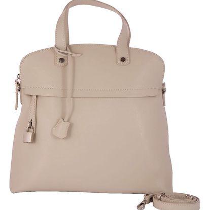 Béžová kabelka z pravé kůže Andrea Cardone Cobalto - doprava zdarma!
