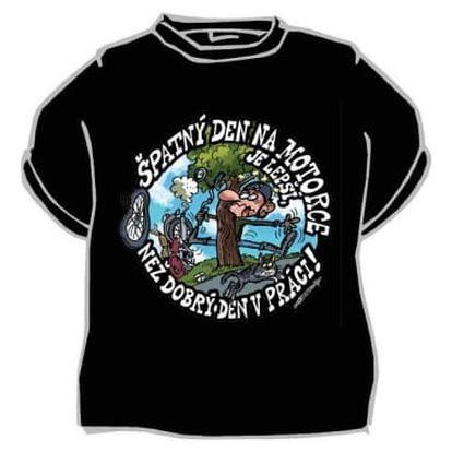 Divja Špatný den na motorce tričko pánské černé - L