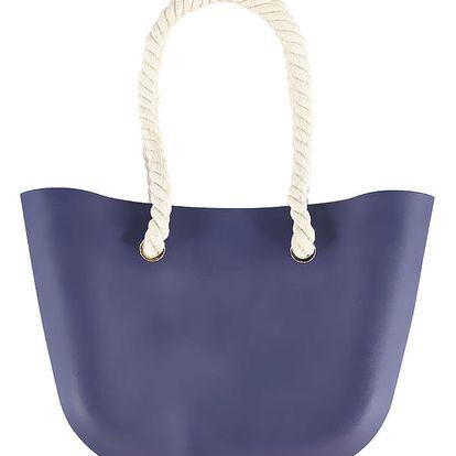 Tmavě modrá gumová kabelka Jelly