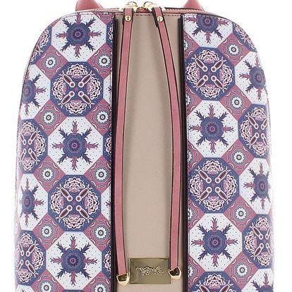 Modro-růžový batoh Antique Symmetry