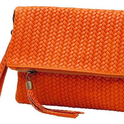 Oranžové psaníčko z pravé kůže Andrea Cardone Ricca