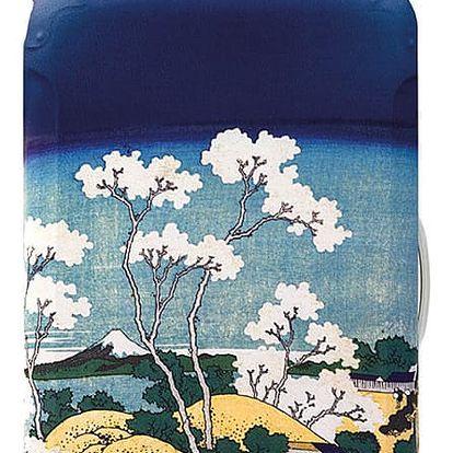 Modrý potah na kufr Hokusai Fuji from Gotenyama