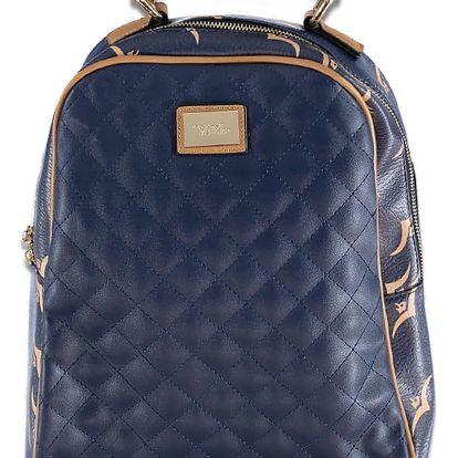 Tmavě modrý batoh Quilted