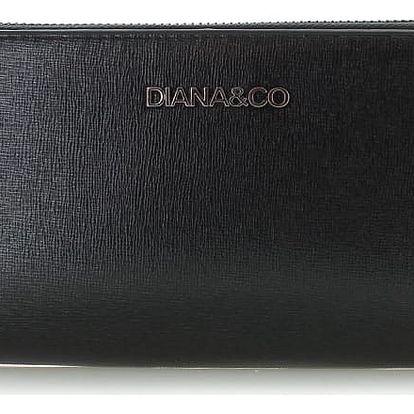 Černá peněženka Shiny