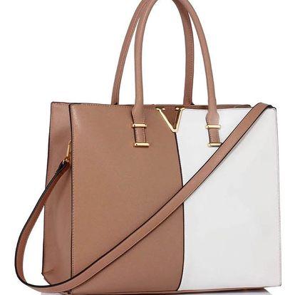 Béžovo-bílá kabelka Estela