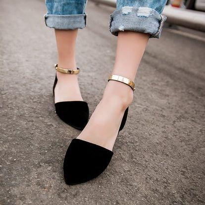 Elegantní dámské otevřené boty - 4 barvy