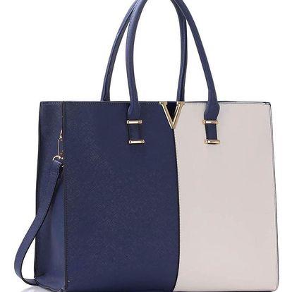 Modro-bílá kabelka Estela
