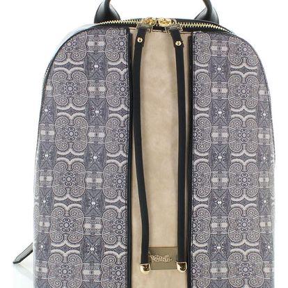 Černo-béžový batoh Majolica Pattern