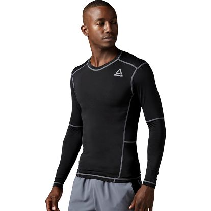 Pánské sportovní tričko Reebok Workout Ready Compr Lo Sleeve Solid XL