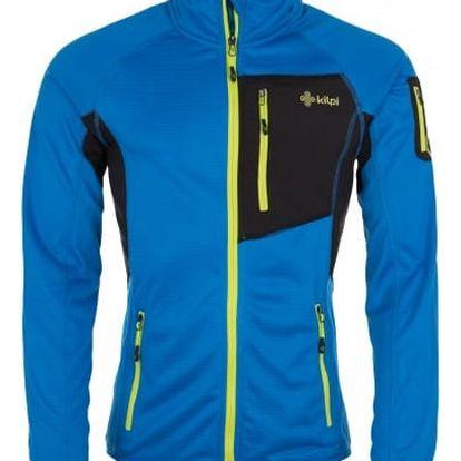 Pánská strečová fleece mikina KILPI HORIZON-M Modrá XL