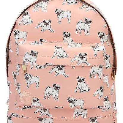 Broskvový batoh Mi-Pac Pugs