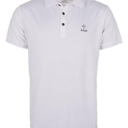 Pánské technické polo tričko KILPI JOHAN bílá s