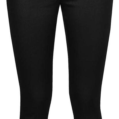 Černé lesklé džíny se zapínáním na boku ONLY Dallas