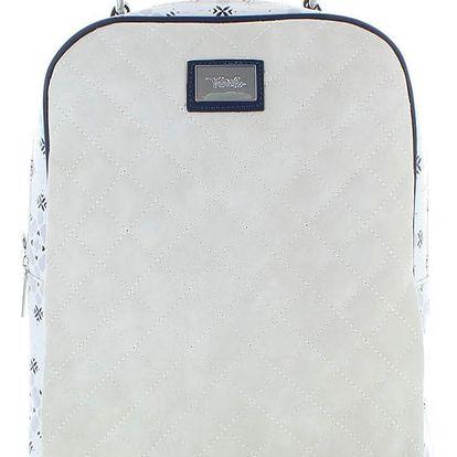 Světle šedý batoh Quilted