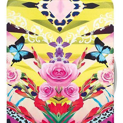 Vícebarevný potah na kufr Shinpei Naito Flower Dream