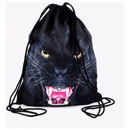Vak na záda s motivem černého jaguára
