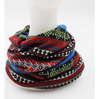 Šátek - čepice pro dámy s originálními vzory