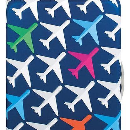 Tmavě modrý potah na kufr Loqi Airport Arrivals