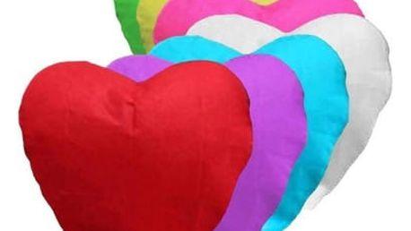 Lampión štěstí - 10 ks mix barev - srdce