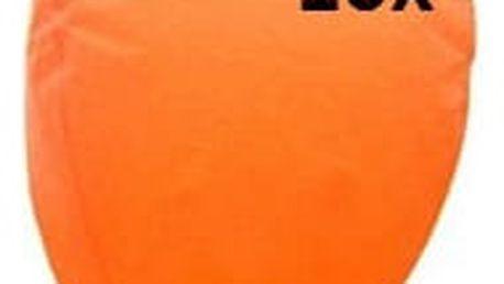 Lampión štěstí 10 ks - čepice - oranžová