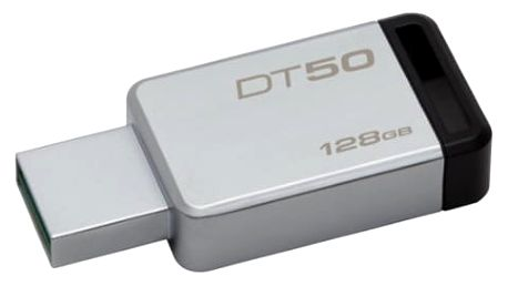 USB Flash Kingston 128GB (DT50/128GB) černý/kovový