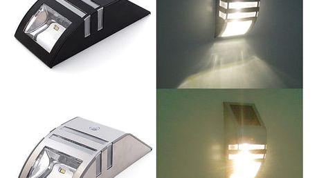 Solární lampa na zeď s čidlem pohybu - 2 barevné provedení