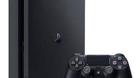 Herní konzole Sony PlayStation 4 SLIM 500GB (PS719845553) černá + Gamepad Sony Dual Shock 4 pro PS4 v2 - černý v hodnotě 1 299 Kč + Doprava zdarma
