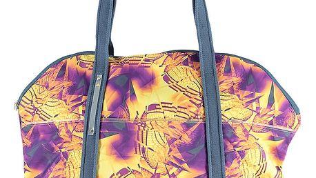 Fialovo-žlutá sportovní taška ADIDAS Perfect Gym Tote Bag