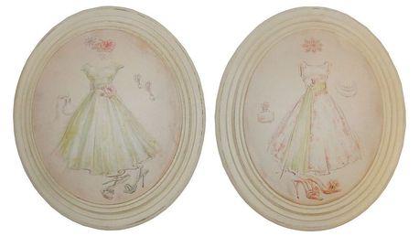 Sada 2 obrázků Antic Line Fashion Dress